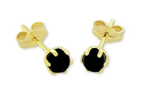 VASCAYA Damen Ohrstecker Ohrring OnyxStein schwarz Gold333 Geburtstag