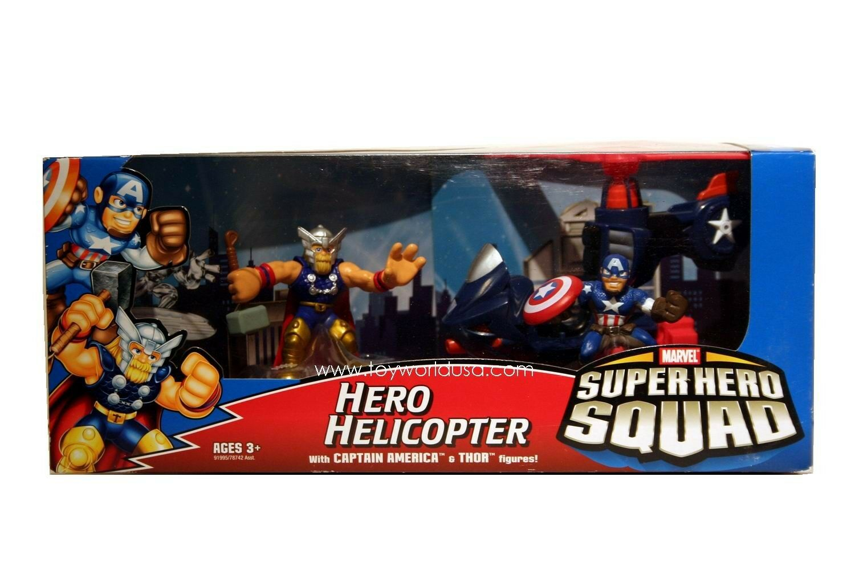 Marvel Super Super Super Hero Squad Hero Helicopter Squad Cruisers Capt America & Thor 7f9451