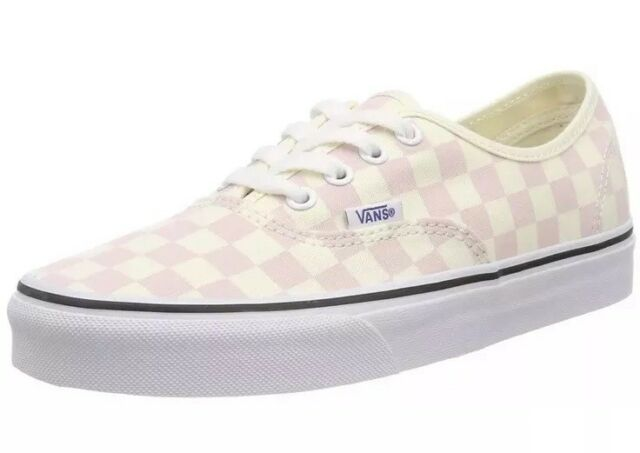 e733d85cc3 Vans Mens 10.5 Womens 12 Authentic Checkerboard Chalk Pink Cream Sneakers  Check