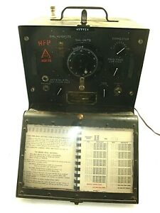 1942-Bendix-BC-221-M-Frequency-Meter-WW2-US-Army-Signal-Corps-Untested