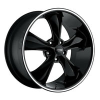 Staggered Foose F104 Legend 18x8,18x9 5x4.75 +1mm Black/milled Wheels Rims on sale