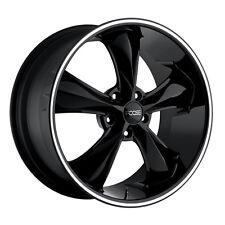 """Staggered Foose F104 Legend 18x8,18x9 5x4.75"""" +1mm Black/Milled Wheels Rims"""