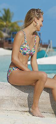 Maritimer jugendlicher Designer Bikini Gr. 42C von SUNMARIN! Serie FLORA NEU!