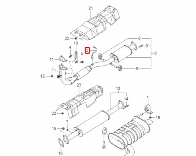 Buy Oxygen O2 Sensor Front 3921038025 For Hyundai Santa Fe Online