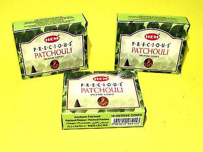 3 boites Encens Patchouli précieux en cônes - Sensuel, apaisement, calme