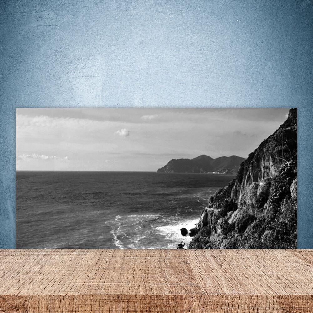 Crédence de cuisine en verre Panneau Paroi 100x50 Paysage Mer Montagnes
