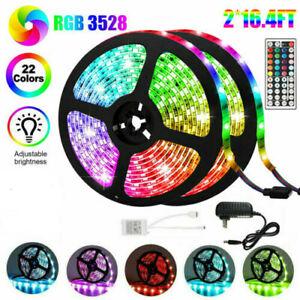 10M-32FT-3528-SMD-RGB-600-LED-LED-Luz-Tira-44Key-Control-Remoto-12V-US-Power