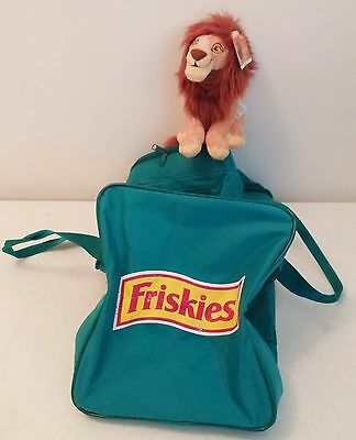 "Vintage FRISKIES Cat Carrier Travel Bag 18"" x 10"" x 9"" - (Lion King Bonus) RARE"