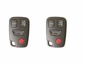 2 replacement keyless remote key fob shell kit fits volvo s40 v40image is loading 2 replacement keyless remote key fob shell kit