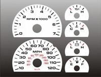 2004-2008 Ford F150 Dash Instrument Cluster White Face Gauges F-150 04-08