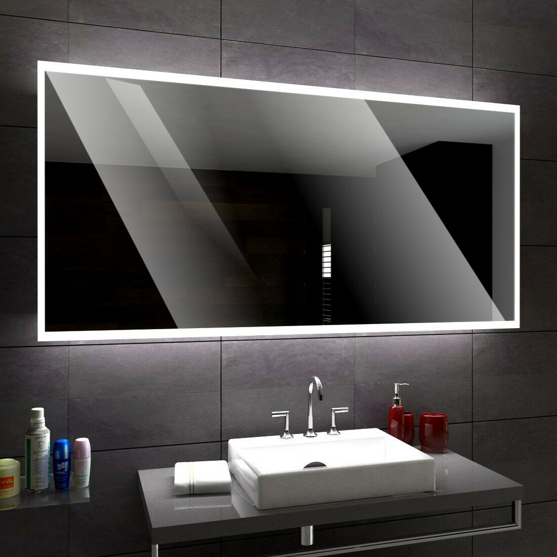 Boston éclairé del Miroir salle de Bain Led personnalisé taille versions