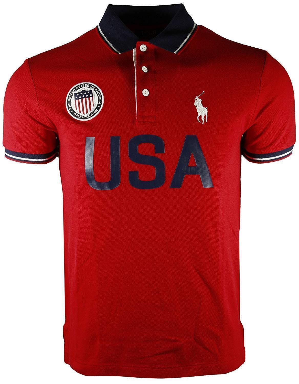 Polo Ralph Lauren Men's POLO USA  Polo Shirt, Ralph Red Big & Tall