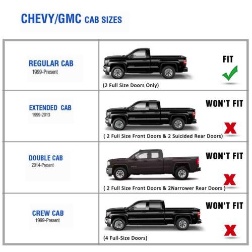 "For 99-18 Chevy Silverado Regular Cab 4/"" Running Board Side Step Oval Nerf Bar"