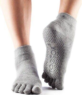 Toesox Completo Toe Alla Caviglia Calze Grip-grigio-