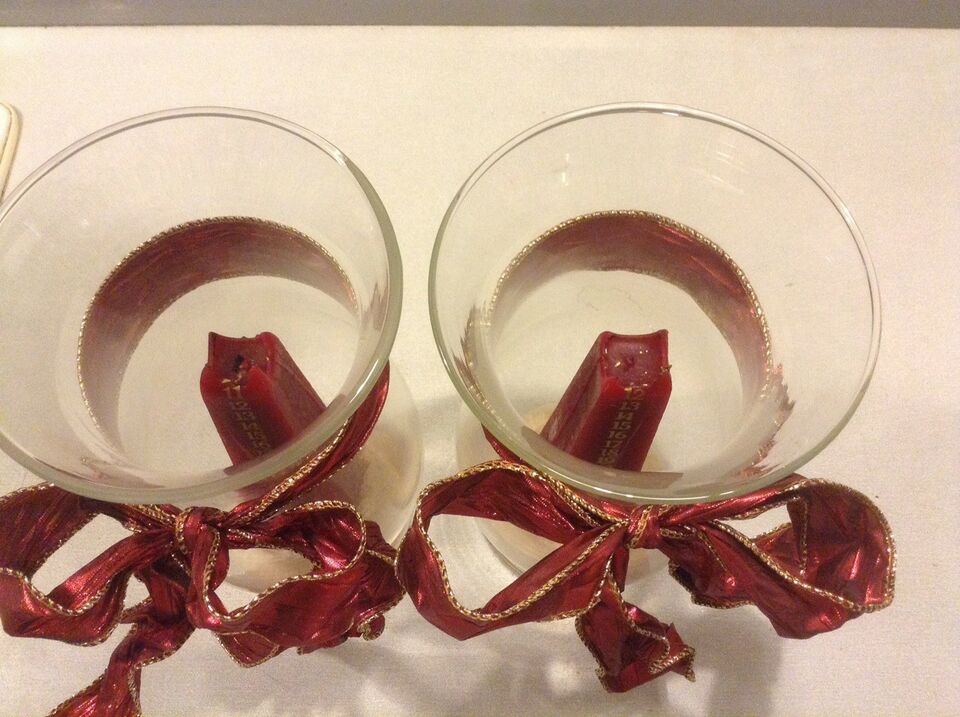 2 store Glaspokaler / hurricane glas
