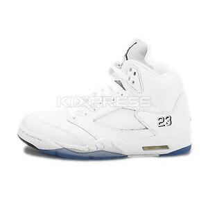 Nike Air Jordan 5 Retro  136027-130  Basketball White Black-Metallic ... 7fee70aeb