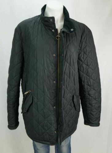 Barbour Quilted Puffer Jacket Black Womens XL