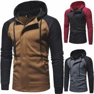 Men-039-s-Warm-Winter-Hoodies-Slim-Fit-Hooded-Sweatshirt-Outwear-Sweater-Coat-Jacket