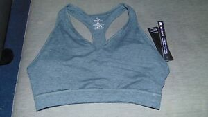 Kyodan-Non-Wired-Optional-Padded-Racerback-Sports-Bra-L-12-14-39-41-034-DkGrey-BNWT