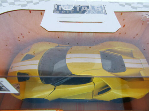 2017 Ford GT ~ Yellow ~ Metals Die Cast Car ~ Big Time Muscle
