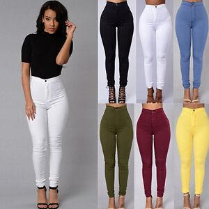 BG-Womens-Pencil-Stretch-Casual-Denim-Skinny-Jeans-Pants-High-Waist-Trousers-Wo