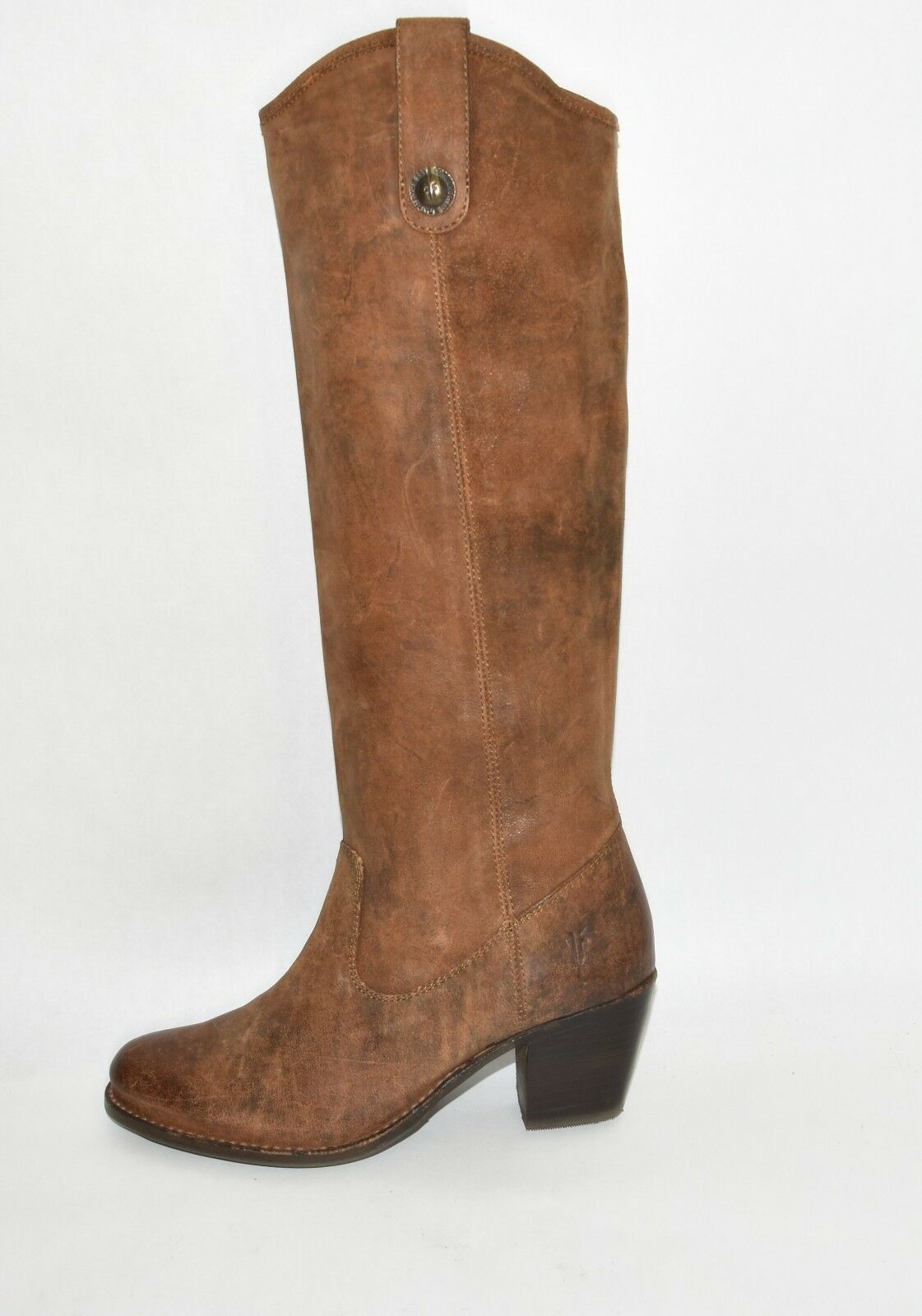 New  Frye Frye Frye 'Jackie Button' Boot Brown Leather Size 6 76575 T22 d980b8
