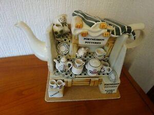 Cardew-PORTMEIRION-Large-CHINA-STALL-Decorative-Teapot-Rare-Item