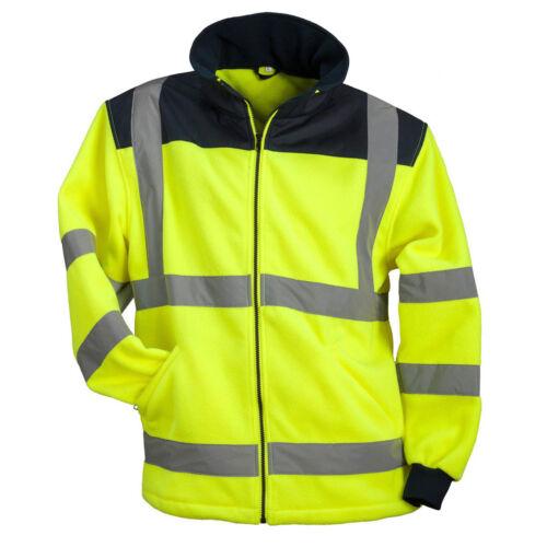 Fleece Winterjacke Warnjacke Warnschutzjacke Arbeitsjacke Gelb POL-HSV-Y