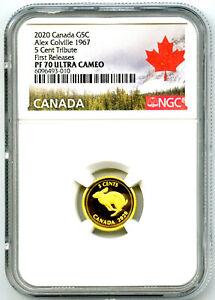 2020 CANADA G5C .9999 GOLD PROOF NGC PF70 UCAM ALEX COLVILLE 1967 RABBIT POP10