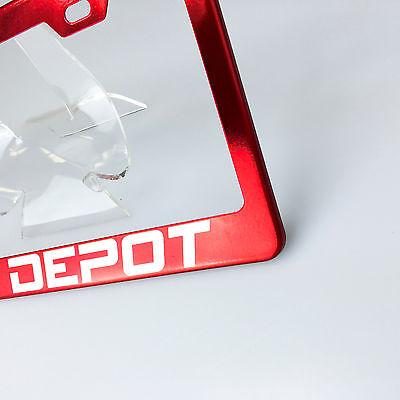 KA Depot Custom Laser Engraved Stainless Steel License Plate Frame Hot Pink New