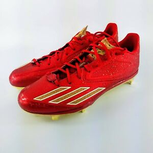 68915ff6296 adidas Adizero Afterburner 3.0 Baseball Cleats - Red   Gold - B42915 ...