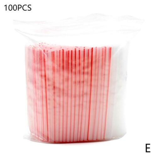 100 Pcs Mini Zipper PE Pouch Packaging Ziplock Bag Plastic Clear Zip Bag