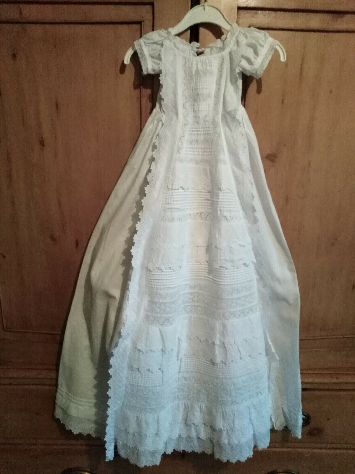 BELLA antico abito da battesimo bambino  bambola abito  Sconto del 60%