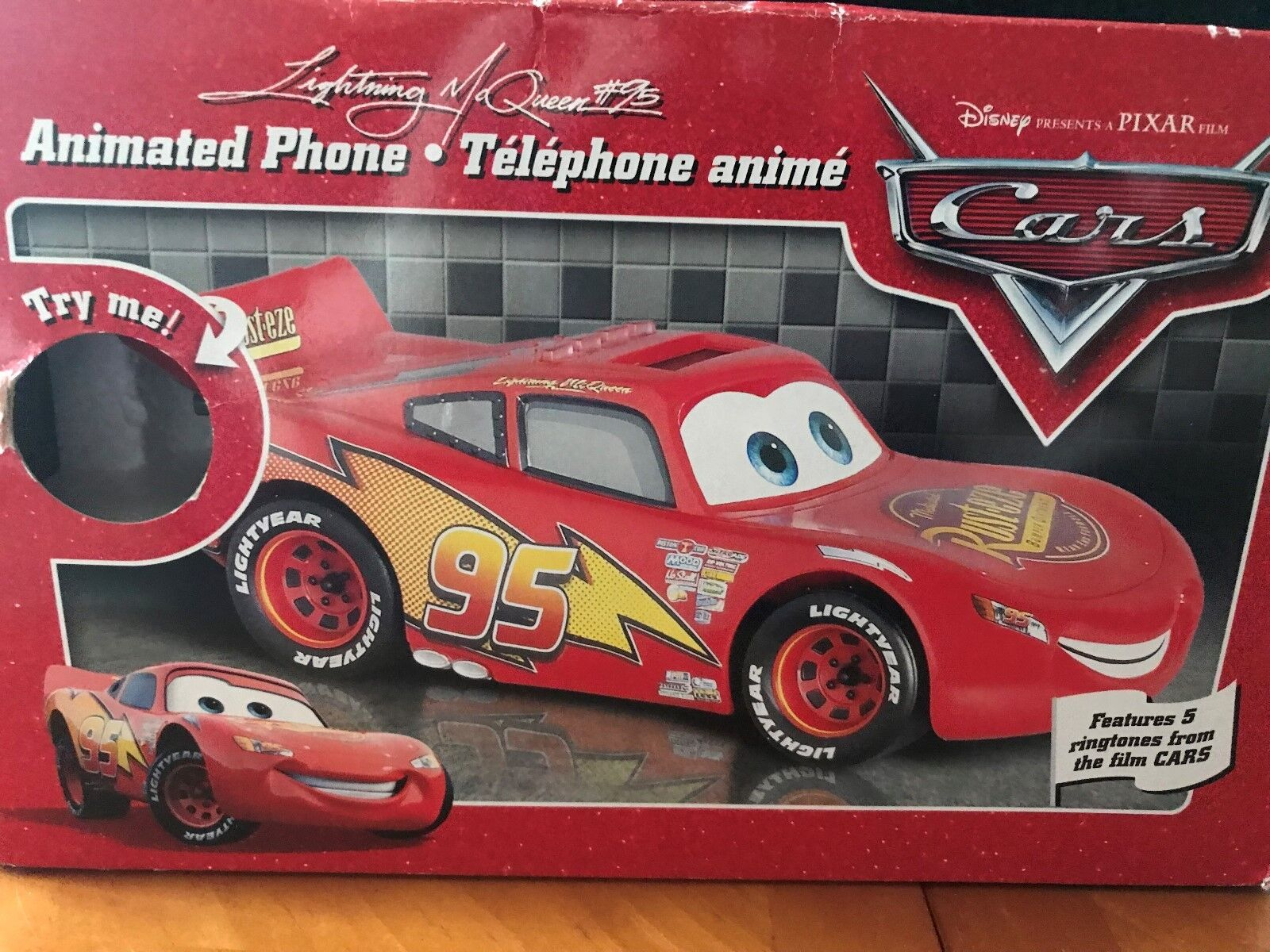 Lightning McQueen  Character two piece talking and animated phone
