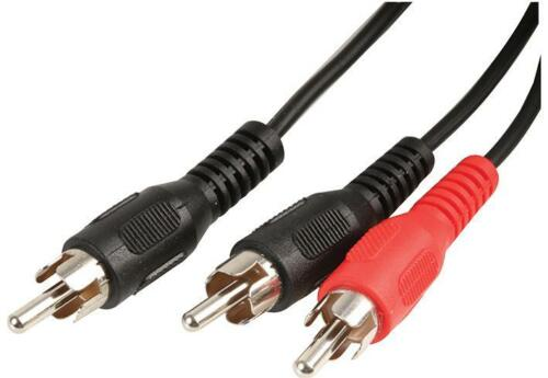 1.2m RCA 2/1 Phono Y Splitter Audio Cable 2 x Male to 1 x Male Lead Adaptor  1m