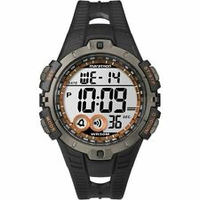 Timex T5K801, Men's Marathon Black Resin Watch, Indiglo, Alarm, T5K801M6