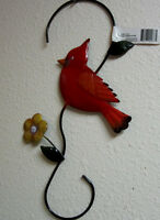 Cardinal Bird Plant Hanger Garden Or House Decoration 13 3/4 Yard Art