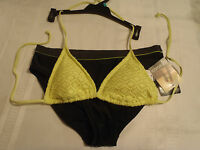 Joe Boxer M Crochet Triangle Swim Halter Athletech Panty 6 12 Or 14 Choice