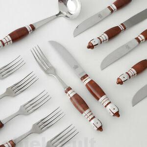 Rosenthal-B-Wiinblad-Besteck-Bestecke-034-Siena-034-6x-Gabel-Messer-Sauce-Pfanne