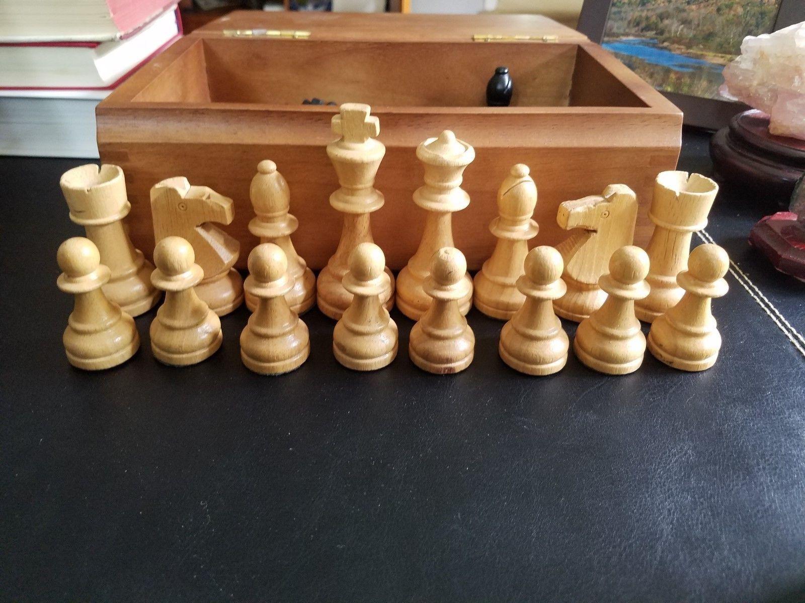 Large Wood Magnetic Chess Set 3.5  King