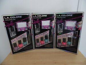 3 Boxes of L.A. Colors Nailstalgia Nail Gift Set-Complete Nail ...