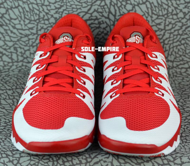 Nike Free Free Free Trainer 5.0 V6 AMP Ohio State Buckeyes 723939-603 NEW OSU White Red 85f3ad