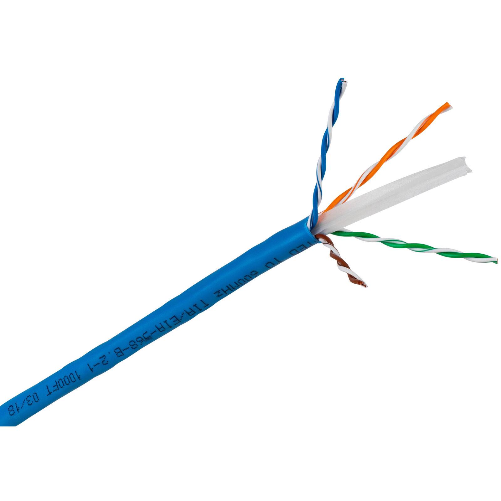 Cat 6 CMR 600 600 600 Mhz 23 4 AWG 1000 ft. Caja De Tracción Azul  la mejor oferta de tienda online