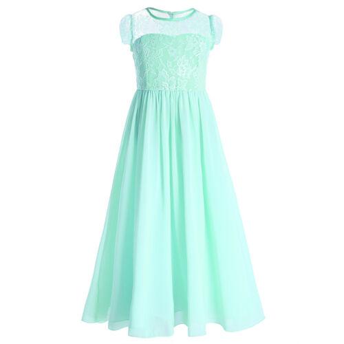 UK Girls Wedding Bridesmaid Flower Girl Dress Princess Pageant Party Prom Dress