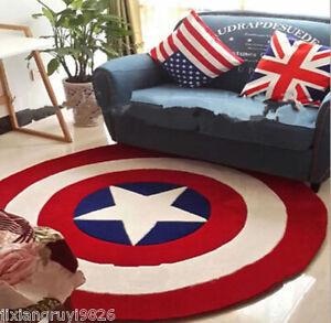 Image Is Loading Avengers Captain America Star Round Floor Rug Bath