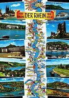 Der Rhein von Koblenz bis Köln , Ansichtskarte , gelaufen