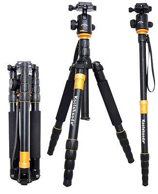 Pro Q-666 SLR Camera Tripod Monopod & Ball Head Portable Compact Travel