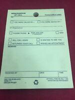 20 Unicor Memorandum Of Call Message Memo Notepads Yellow 100 Sheets Per Pad