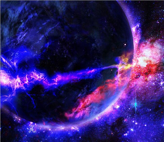 3d Univers 1 Aurore 1 Univers Photo Papier Peint En Autocollant