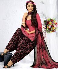 Elegant Crepe Designer Printed Patiala Unstitched Dress Material Suit.No GP241